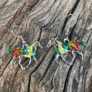 Colorful Horse Earrings
