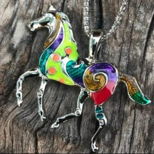 Colorful Horse Necklace