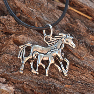 A Mother's Love Horse Necklace