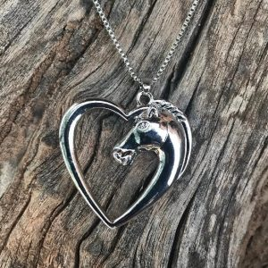 Heart of Love Horse Necklace