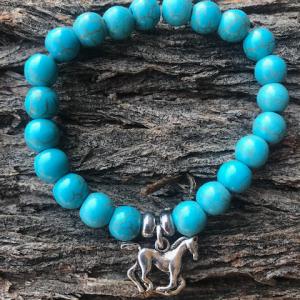 Wild Life Turquoise Stretch Bracelet